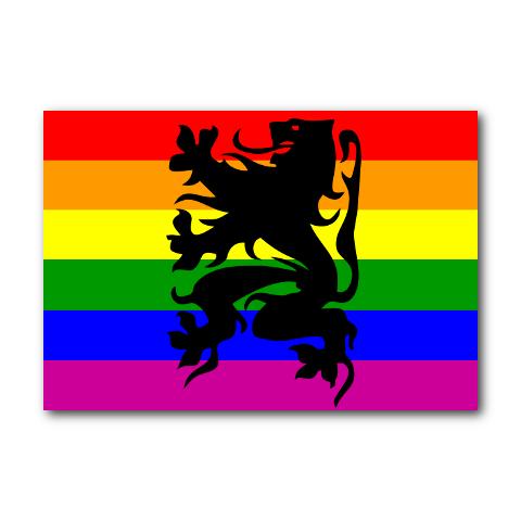 Vlag Prideleeuw